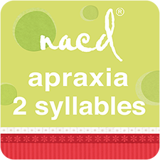 NACD Speech Therapy for Apraxia 2 Syllables