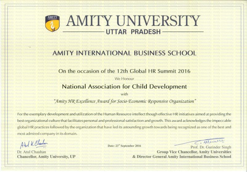 NACD Prachi Sinha Amity University Certificate
